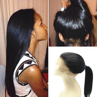 Brazilian Virgin Human Hair Light Yaki Straight 360 Lace Fro...