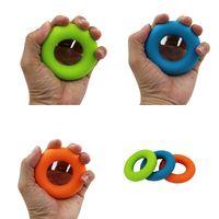 보디 빌딩 핑거 포스 실리콘 타입 O 손잡이 물리적 운동 팜 휴대용 치유 악기 녹색 파란색 오렌지
