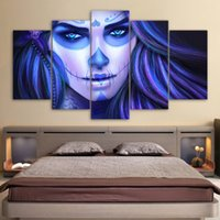 HD Printed 5 piece canvas art cuadros Day of the Dead Face p...