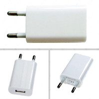 Высокое качество 1A черный Универсальный ЕС Plug USB Зарядное Устройство Адаптер переменного тока для телефона 4 4S 5 USB Зарядные устройства мобильного телефона