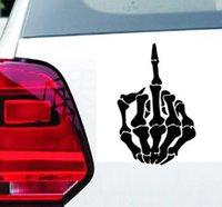 Yansıtıcı Araba Çıkartmaları kafatası parmak Su Geçirmez Çıkartması Sticker kapak / anti scratch