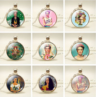 Wholesale Mexico Artist Frida Kahlo Pendant Necklace For Wom...