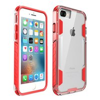 2in1 Clear Frame Case Soft TPU+ Hard PC Clear shockproof case...