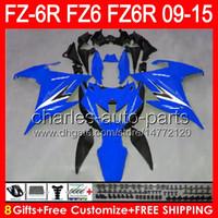 gloss blue 8gifts For YAMAHA FZ6R 09 10 11 12 13 14 15 FZ6N FZ6 89NO121 FZ-6R FZ 6R 2009 2010 2011 2012 2013 blue black 2014 2015 Fairing