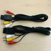 160cm AV TV RCA Video Kablosu Kablo Oyunu Küpü için / SNES GameCube için / Nintendo için N64 64 Toptan 50pcs için