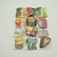 120Pcs Stickerei Mix Eisen auf Flecken Donuts Obst Abzeichen Tasche Kleidung-Gewebeapplikationen
