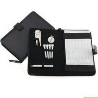 Оптовые - Crestgolf Golf Golf Golder Держатель PU Cover с карандашом / DAVOT Tool / Golf Tees / Hat Clip
