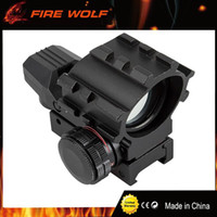 FIRE WOLF Red Green Dot Reflex Sight Scope Tactical Holograp...