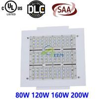 CE UL Led Canopy Light 80W 120W 160W 200W 100-277V Luces LED de estacionamiento Iluminación de adaptación al aire libre para la estación de servicio Lámpara Reflector 1010