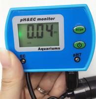 Freeshipping 2 en 1 Medidor de calidad de agua Monitor de calidad del agua multiparamétrico pH / EC Medidor Acidómetro para piscina de acuario