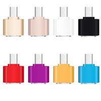 Mini Mikro USB 5pin Kadın USB Portu OTG Adaptör Samsung HTC HUAWEI LG Smartphone için Data Sync Şarj U-Disk