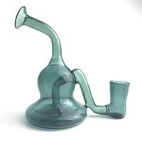 4,5 Zoll neue Mini Glas Bong Wasserleitungen dunkelgrün wenig Klein bunte Glas Öl Rigs 14,4 mm weiblich für Quarz Banger