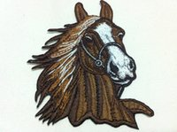 Wholesales 10 Pieces Punk Patch Horse Head (8 cm x 10 cm) Em...