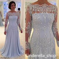 2019 Lavender Lace Mother Of The Bride Dresses Long Sleeves ...