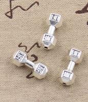Ücretsiz Kargo 100 Adet Tibet Gümüş spor dambıl Paspayı Boncuk Takı Yapımı Için 25x8mm YENI