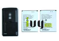 2 قطع 2000 مللي أمبير C765804200L استبدال البطارية + العالمي usb الجدار شاحن ل blu الحياة 8 Life8 L280 L280a فوز hd w510 w510u