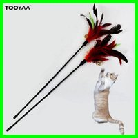Colorful Feather Pet Cat Toys With Bells Cat Teaser Wand Toy...