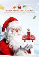 JJRC H67 Летающий Дед Мороз с Новогодними Песнями RC Вертолет Drone Рождественская Игрушка Пульт Дистанционного Управления Самолетом Для Детей Подарок