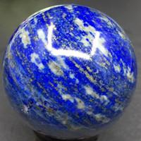 홈 장식 크리스탈 구 볼 도매 자연 Lapis Lazuli 보석 구 광택 구슬 치유