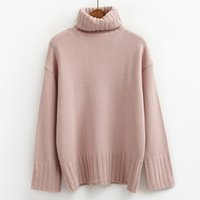 fdee9ae691 Wholesale cute korean sweaters online - autumn pullover women sweaters and  pullovers winter turtleneck korean pink