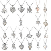 18KGP Love Wish Wish Pearl / Gem Beads Locket Jaulas Colgantes, DIY Pearl Charm Colgantes Montajes Envío gratis