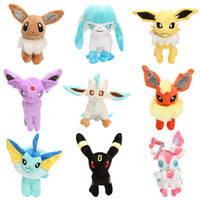 90pcs lot Eevee Series plush toy Eevee Espeon Flareon Espeon...