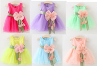 Baby Dresses for Girls Summer Cotton Baby Dress With Sashes ...