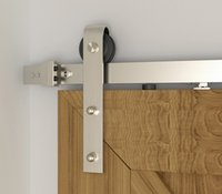 8 Photos Wholesale Hanging Door Track   DIYHD FT FT FT Brushed Sliding Barn  Door Hardware With Two