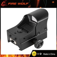 FIRE WOLF Tactical Hunting Holographic Riflescope 1x22 punto rojo 21mm Airsoft Red Dot Scope Sight Dot