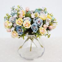 Gros 2017 Date Artificielle Décoratif Fleur Têtes Faux Pivoine Fleurs Pour La Fête De Mariage Décoration Photographie Décorations