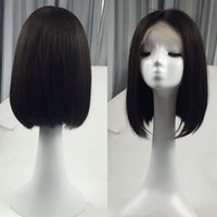 Glueless Lace Front Virgin Human Hair Wigs Short Bob Wig Sil...