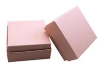 7.3 * 7.3 * 3.5cm Bianco scatola rosa per gioielli collana pendente regalo confezione scatole anello orecchino carraing casi G1162