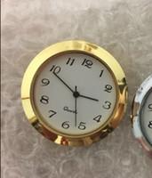 Запас 1 7/16 дюймов золото пластиковая вставка часы standand размер арабский циферблат fit up clock PC21S movment