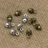 PULCHRITUD 60pcs Antique Silver Metal Alloy 7*13mm Lovely Ch...