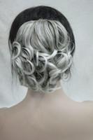 Moda Feminina Cor 48T # Sintético Curto Ondulado Grampo Da Garra Rabo De Cavalo Pony Tail Extensão Do Cabelo peruca