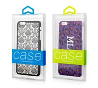 DIY Personaliza el LOGOTIPO Caja de embalaje de PVC para iphone 7 7plus Cubierta de la caja del teléfono celular con bandeja interna colorida
