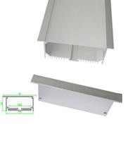 10 X 1 M Sätze / Los Aufputzmontage Aluminiumprofil für LED-Licht und quadratischen Kanal mit Flansch für Decken- oder Wandleuchten