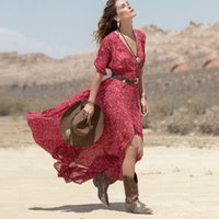 Summer Style Bohemian beach Dress For Women Ladies Boho Dres...