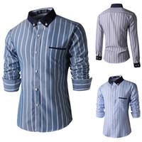 Al por mayor-alta calidad suave negocios casual hombres camisas de vestir 2015 Nueva marca hombre Slim fit manga larga moda Camisas de marca ropa