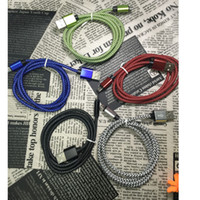 1M 3FT Micro USB 2. 0 Cable Fabric 2A woven Braided cord Data...