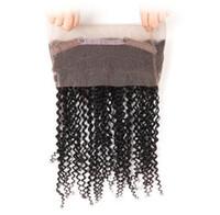 20-дюймовый бразильский человеческий девственница волос 360 полный кружевной волос продукт натуральный черный / струя черный цвет 130% отрицание кружевных расширений