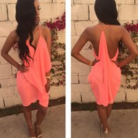 2017 Nouvelle Mousseline de Soie Robe Femmes Volants Patchwork Robes Lady Mode Casual Sexy Strap Halter Backless Robes Famale NN-046