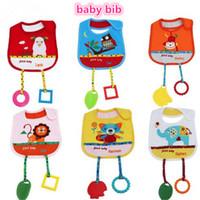 8 modelos para bebé toallas de la saliva babero de bebé animal de la historieta de los baberos de niño para los niños del bebé baberos niños bufanda con los granos Teether kid362