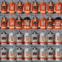 Philadelphia Flyers Hoodie 10 Brayden Schenn 14 Sean Couturier 16 Bobby Clarke 17 Wayne Simmonds 하키 유니폼 후드 티 스웨트