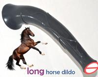 43 cm de longitud Succión realista pene grande largo caballo consolador animal masaje del pene mujer vagina a tope femenino Juguetes sexuales eróticos