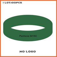4000PCS/Lot High quality Customized Color rubber silicone bracelets for promotional gifts B434