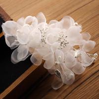 أغطية الرأس الزفاف غطاء الرأس لحضور حفل زفاف زهرة فتاة اكسسوارات للشعر