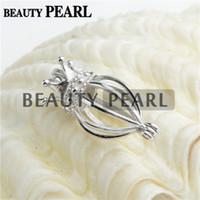 3 Parça Toplu Madalyon Aşk İstek İnci Hediyeler Güzel Sterling 925 Gümüş Mücevherat Kafes Kolye Charm