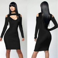 Sexy Night Club Bodycon Bandage Dress for Women 4 Colors Lon...