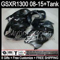 광택 용 블랙 8GIFTS 스즈키 하야부사 GSXR1300 08 15GSXR-1300 14MY82GSXR1300Gsxr1300 08 09 10 11 12 13 14 15 페이링 글로스 블랙 키트